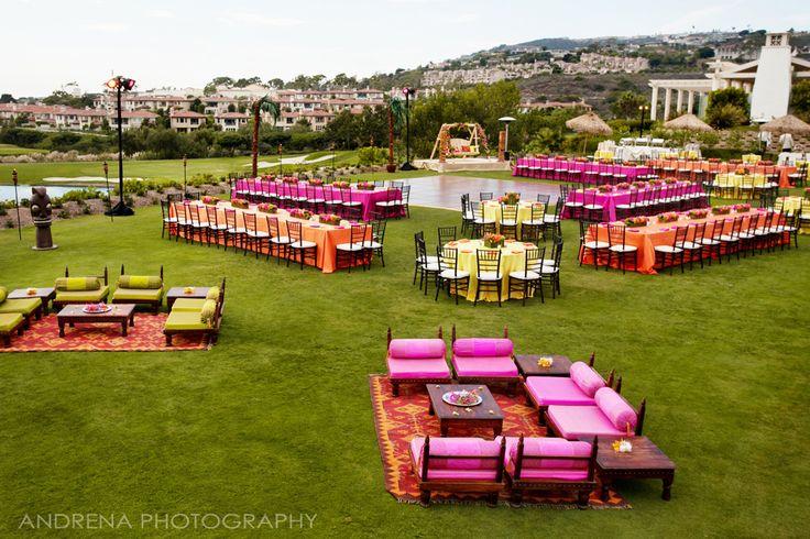 Colorful mendhi sangeet Capri Flowers Weddings & Special Events