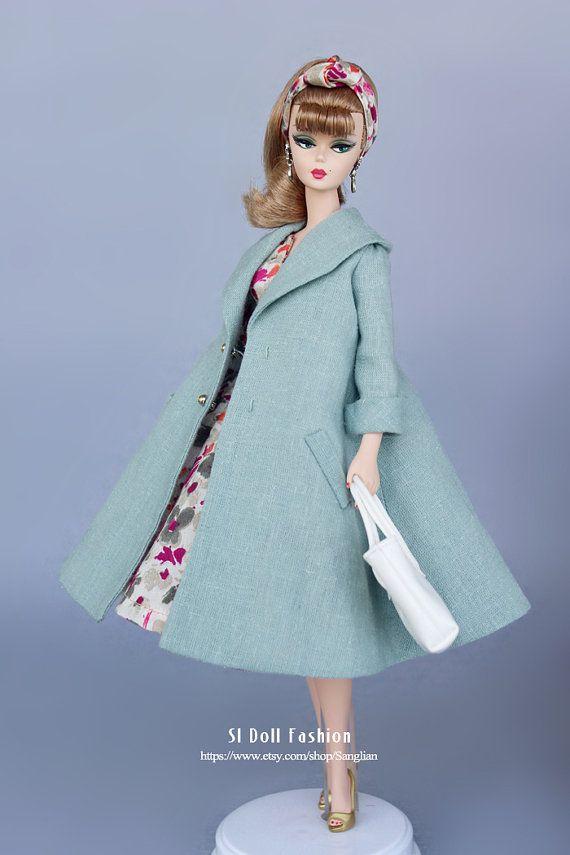 vintage dress with jack for Silkstone Barbie by SL door Sanglian