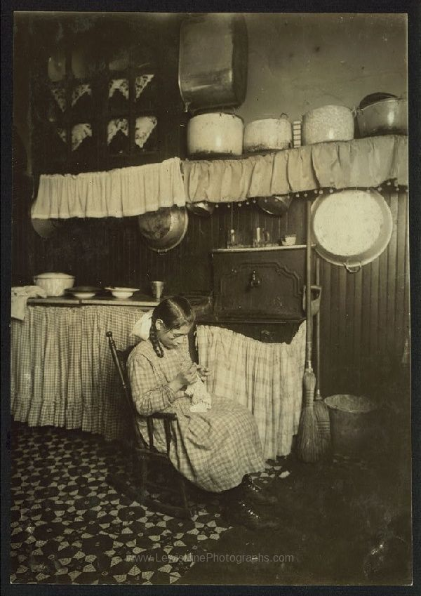 Carmela Picciano, 311 E. 149th St., 3rd floor rear. 12 years old. Making Irish lace for collars. Works until 9 P.M. sometimes.