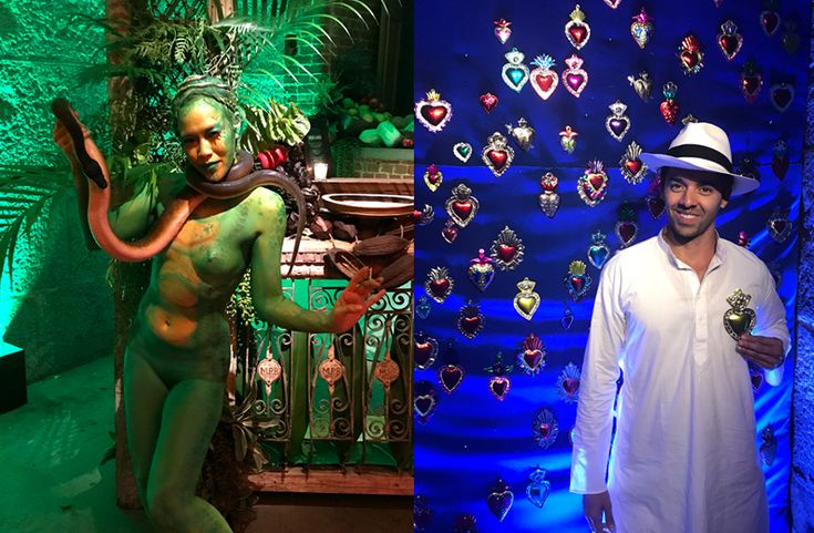 Body painted Snake dancer & custom character for Anniversary event SF for Sillapere