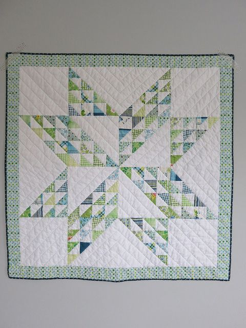 Leftover HSTs Baby Quilt by phr0gg, via FlickrQuilt Baby, Leftover Hsts, Baby Quilts, Accuquilt Die, Baby Baby, Baby Boy, Hsts Stars, Photos Shared, Hsts Baby