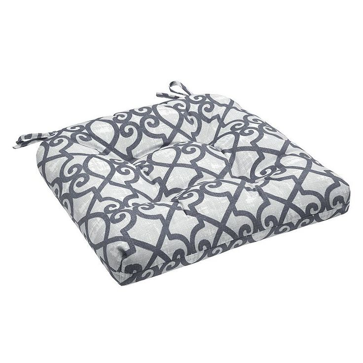 Madison Park 3M Scotchgard Outdoor Chair Cushion, Grey
