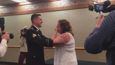 """""""Margaret Pearson thought her husband would pin her at her nursing school graduation. Instead, Pearson's son, Army Sgt. Dustin Pearson, surprised her to do the honor,"""" [via ABC News]. #RasNews #RasNursePride"""
