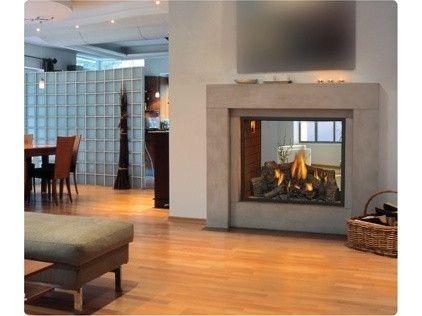 double sided wood burning fireplace.  i want what i want.