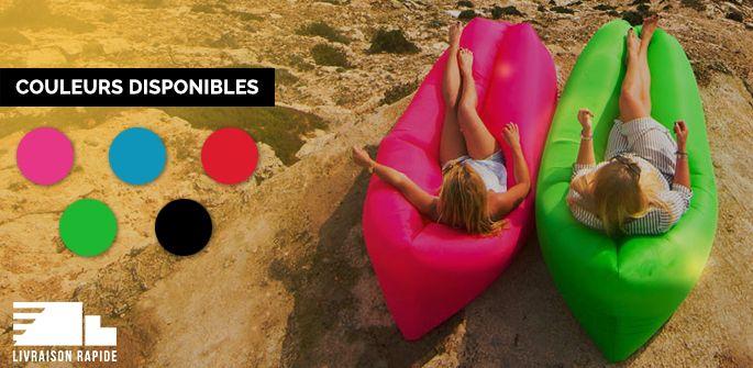 Un «hit» cet été! 64,99$ (taxes incluses!) pour le très populaire hamac gonflable! Livraison rapide et 5 couleurs disponibles! (valeur de 115$) - Boutique PromoRabais