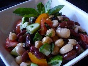 Mediterranean Mixed Bean Salad with Heirloom Tomatoes & Herbs - Farberware Cookware