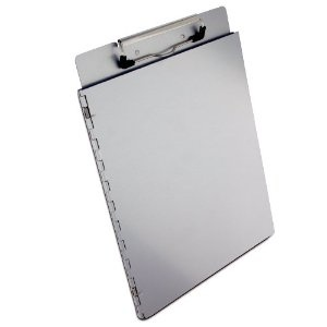 Saunders Recycled Aluminum Portfolio Clipboard with Privacy Cover, Letter Size, 8.5 x 12-Inches, 1 Clipboard (22017) - If I put an open file folder game on this, could I put magnets on the back of the pieces and have them stick to the file folder?File Folder