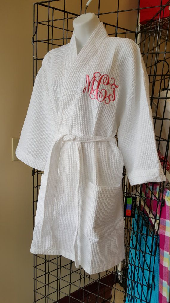Don't risk getting makeup and hairspray all over your beautiful clothes or dress! Why not gift your bride/bridesmaids with these adorable personalized robes!?