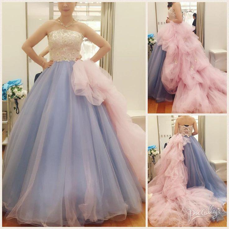 そしてッ❗️ついについに、これが私の運命のカラードレスです ウエディングドレスはハリのある感じがいいって思ってたから、カラードレスはなるべくフワフワな感じがいいなぁでも可愛すぎるのは似合わないし… なんて思ってた時に出会ったこのドレス✨ 着た瞬間、これがいいっ❤️ってなりました ちなみに、ピンクのホワホワは取り外し出来てシンプルにも着れます◎ ピンク/ブルー・アナ グレースコンチネンタル ¥280.000+税 * * * #アニヴェルセル #アニヴェルセル表参道 #タカミブライダル #グレースコンチネンタル #ウエディングドレス #カラードレス #ピンクブルーアナ #運命のドレス #プレ花嫁 #プレ花嫁卒業