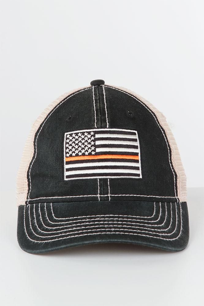 Show you're a member of the coveted Burnt Orange Nation in this adjustable American flag mesh cap! A classic trucker with a hint of UT pride - order today!