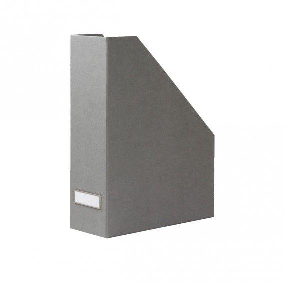 Clem (3 en gris clair et 3 en gris foncé) Range-dossiers en carton gris flanelle