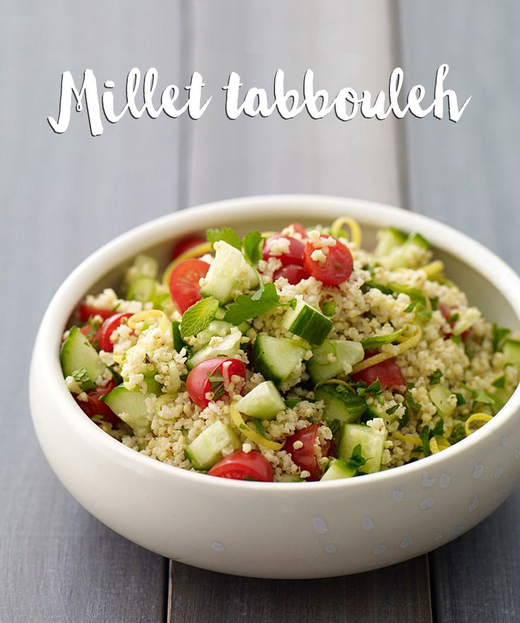 For a main, side or snack, millet tabbouleh is always a quick, easy and delicious choice!
