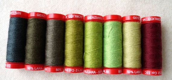 Genziana Wool Thread Sampler Pack for Wool by quiltingacres, $25.00
