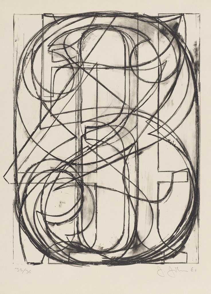 """""""0 through 9"""" Lithography by Jasper Johns, 1960"""