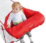 #Primainfanzia #8: Safety 1st, Protezione imbotitta per bambini da applicare a seggioloni/carrelli della spesa Caddy Protect , Rosso (rot)
