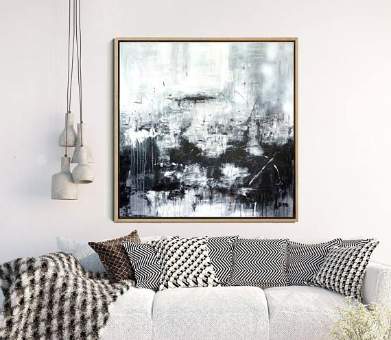Modern Wall Art Abstract Art Black And White Print