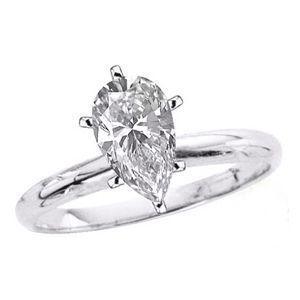 Diamantring / Diamantarmband / Diamantschmuck: Solitär Diamantring 1.15 Karat aus 585er Weißgold ...