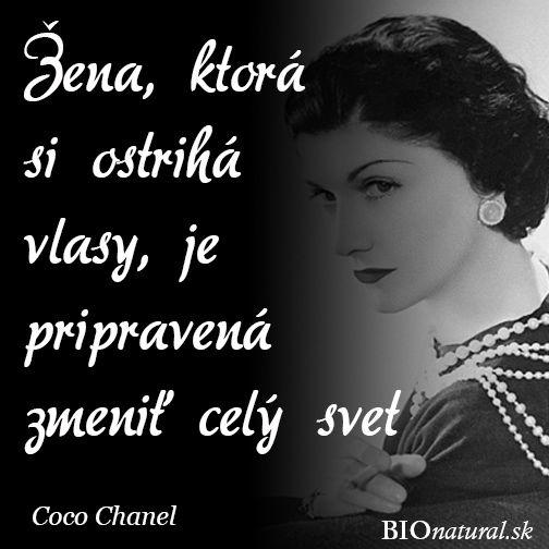 Citát od Coco Chanel #coco #chanel #citat