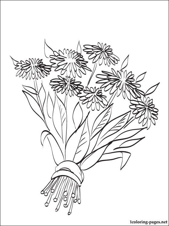 autumn flowers coloring page coloring pages