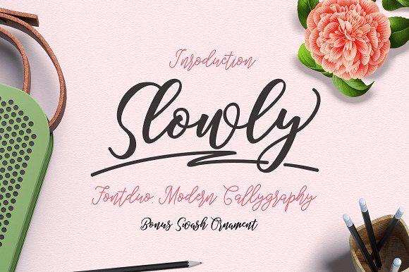 Slowly FontDuo by jorse on @creativemarket