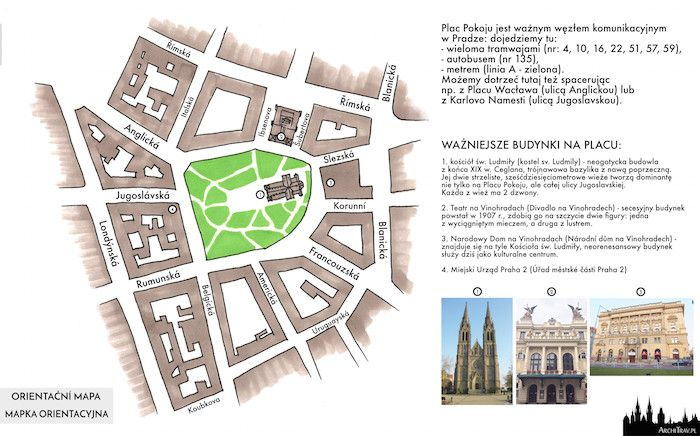 Plac Pokoju w Pradze | Náměstí Míru v Praze | ArchiTrav
