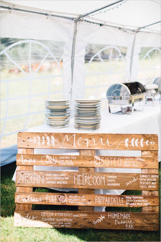 #weddingmenu #woodpallet @weddingchicks