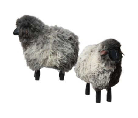 Buy Sheep special fur small. by Maze NY - Quick Ship designer Accessories from Dering Hall's collection of Mid-Century / Modern Traditional Organic Decorative Objects.