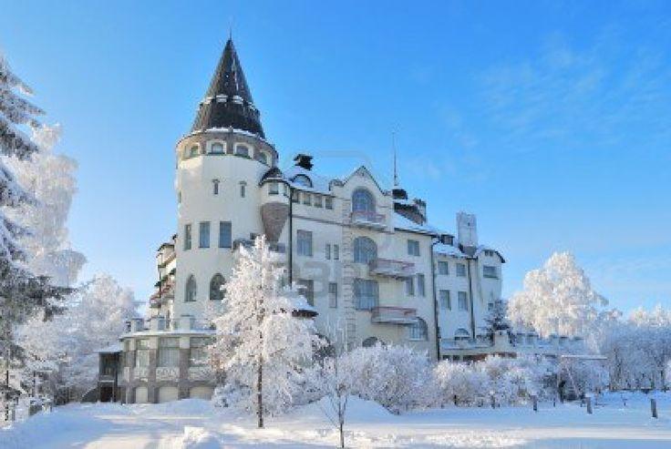 Very beautiful snowy  winter in Imatra,  Finland Stock Photo - 12037407