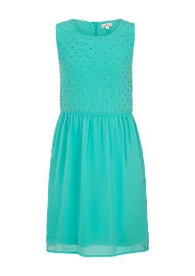 Crêpe-Kleid mit Schmuckstein-Besatz von s.Oliver. Entdecken Sie jetzt topaktuelle Mode für Damen, Herren und Kinder online und bestellen Sie versandkostenfrei.