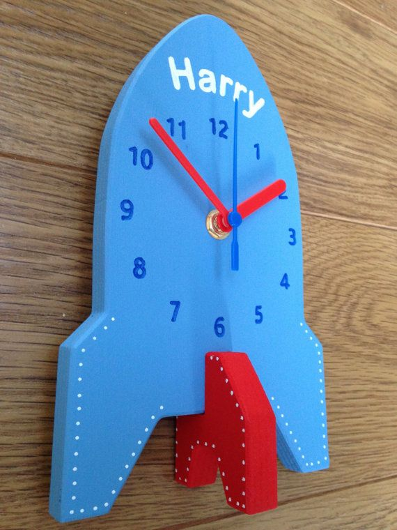 A Handmade Wooden Children S Clock That Can Be Personalised