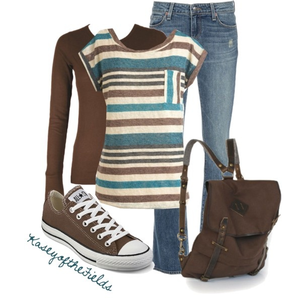 """""""Brown and Teal"""" by kaseyofthefields on Polyvore"""