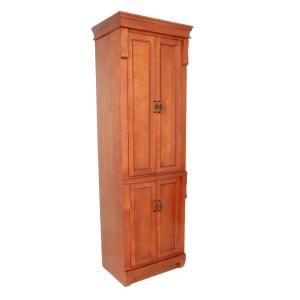 Foremost Naples 24 In W X 74 In H X 18 In D Wood Bathroom Linen Storage Floor Cabinet In Warm Cinnamon