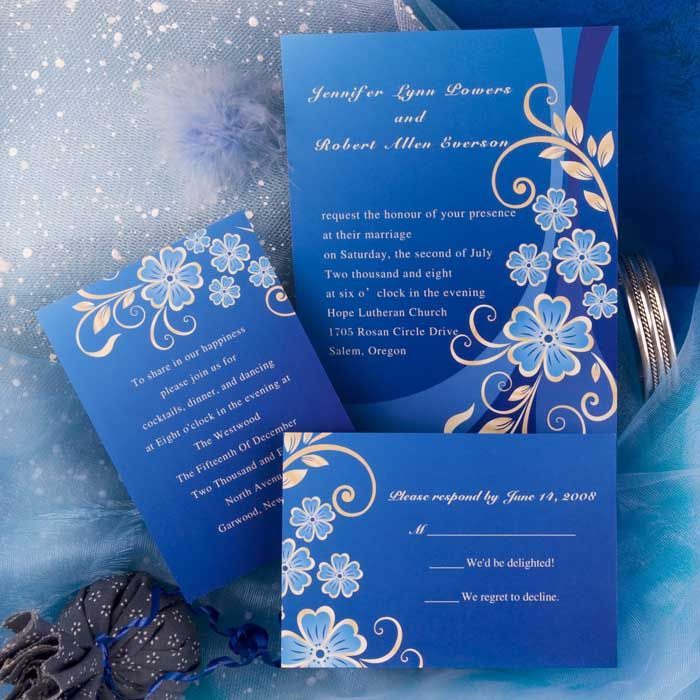 48 best Blue Wedding Invitations images on Pinterest | Invitations ...