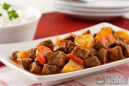 Receita de Carne de panela com batata - Comida e Receitas