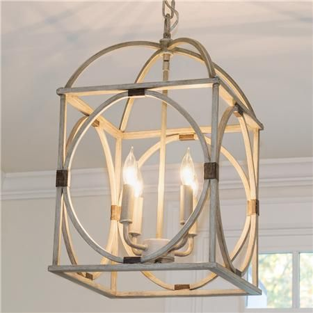 Circle Lattice Hanging Lantern, $290, this one has a similar finish to the night stand