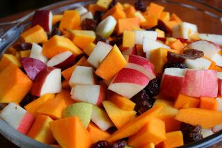 Squash Apple and Cranberry Bake