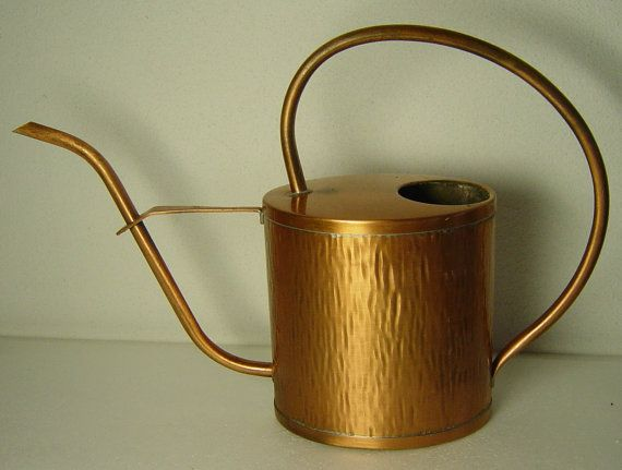 large midcentury hammered copper watering can by Hotlavabeach, £17.00