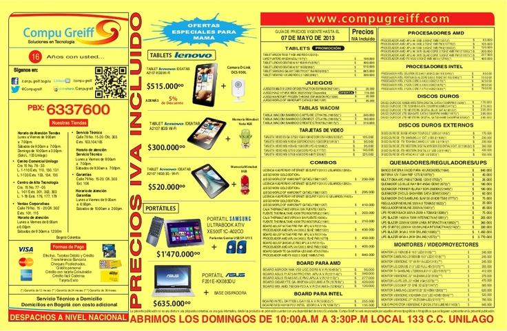 lista-deprecioscompugreiffmayo072013-20731148 by Compu Greiff  via Slideshare