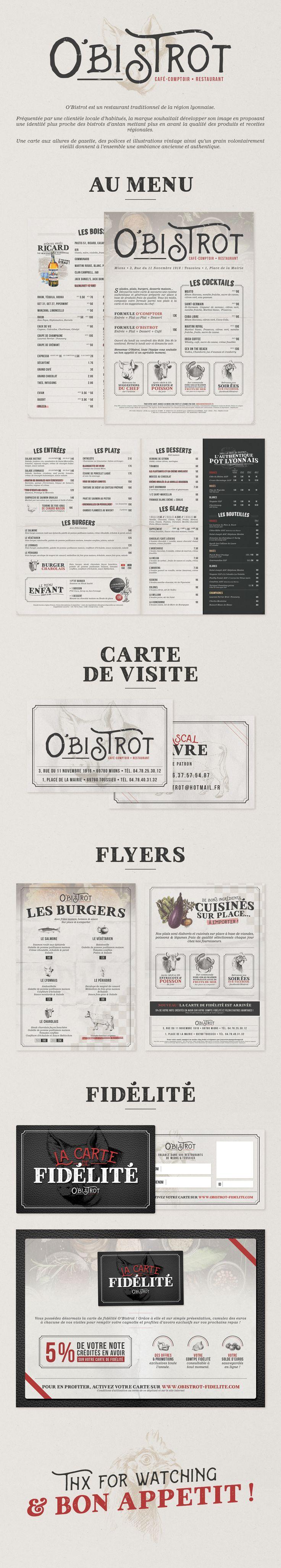 O'Bistrot - Identité visuelle d'un restaurant par IziPass #menu #restaurant