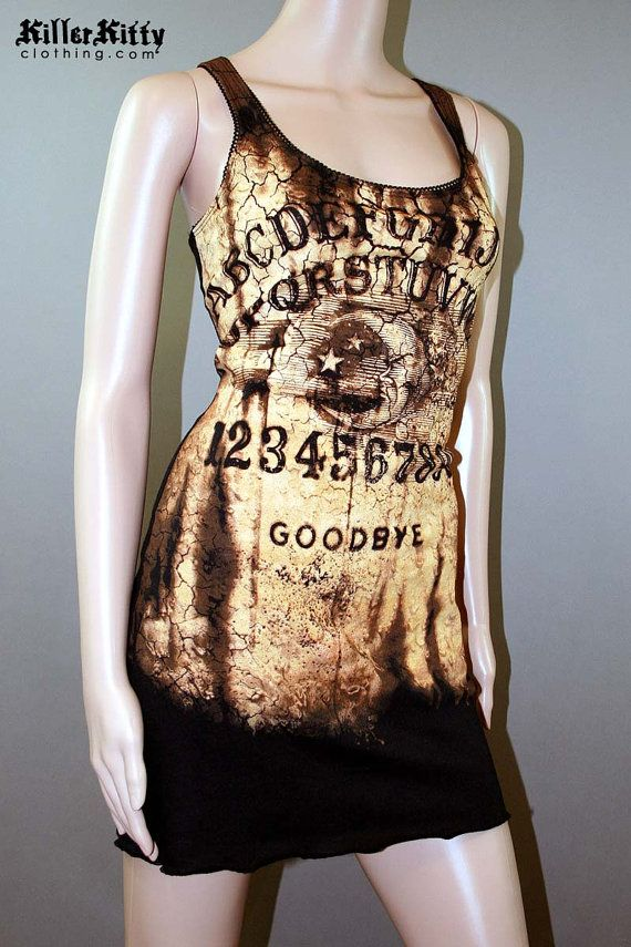 Ouija Board Tank Top Dress Horror Talking Board Tunic - Séance, Seance, Board, Spiritualist, Mystifying, Oracle, Talking, Occult, Fortune Telling, Halloween, Horror, Ghost, Creepy, Victorian, Era, Spirit, Planchette, Witchboard, Witch, Automatic, Writing, Witchcraft, Craft, Dead, Divining, Elijah Bond, Elijah H. Bond, Nirvana, Magic, Egyptian, Luck, Mysticism, Occultism, Pythagoras, Clairvoyance, ESP, Seers, Psychics, Captain Howdy, Channeling, Fuji, Alphabet, Ouija,