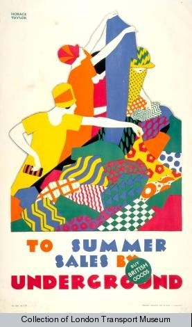 1920s advertising poster from the London Transport Museum collection.