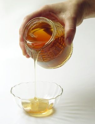 Honey & Olive oil.    1/2 cup of honey and 1/4 cup of olive oil.  Put on hair for 30 minutes