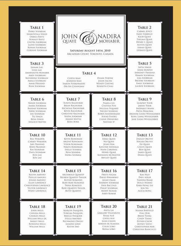 Wedding Seating Chart Template | Free & Premium Templates