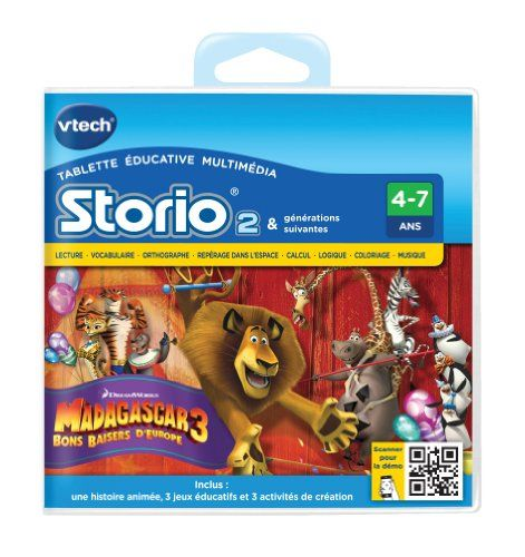 Vtech – 230905 – Storio 2 et storio 2 Baby – Jeu éducatif – Madagascar 3 | Your #1 Source for Toys and Games