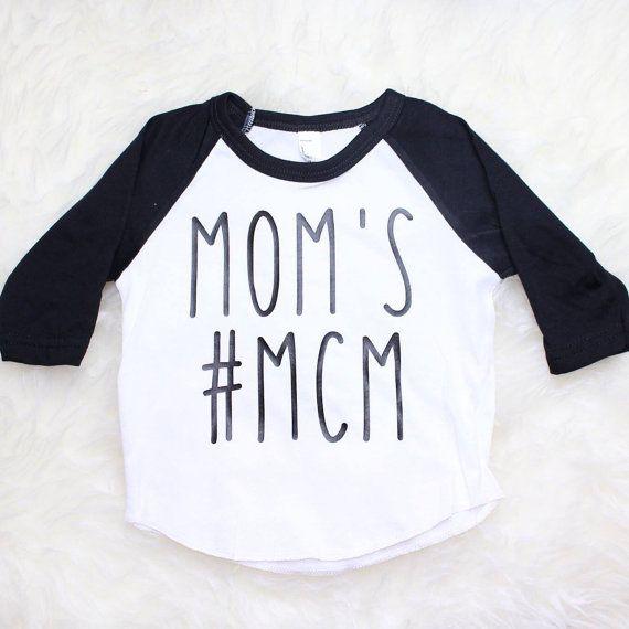 Mom's MCM Raglan Baby Shirt Baby Boy Shirt by BellesandBeausInc