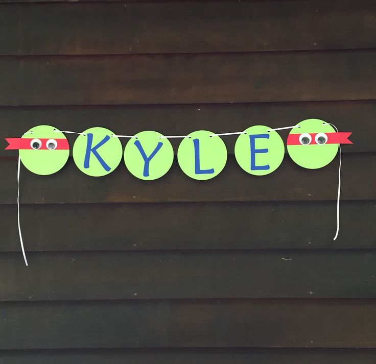 Personalized TMNT Banner, Teenage Mutant Ninja Turtle Birthday Party Banner, TMNT Party Suplies, TMNT Decorations by LittleMichaels on Etsy https://www.etsy.com/listing/231831844/personalized-tmnt-banner-teenage-mutant