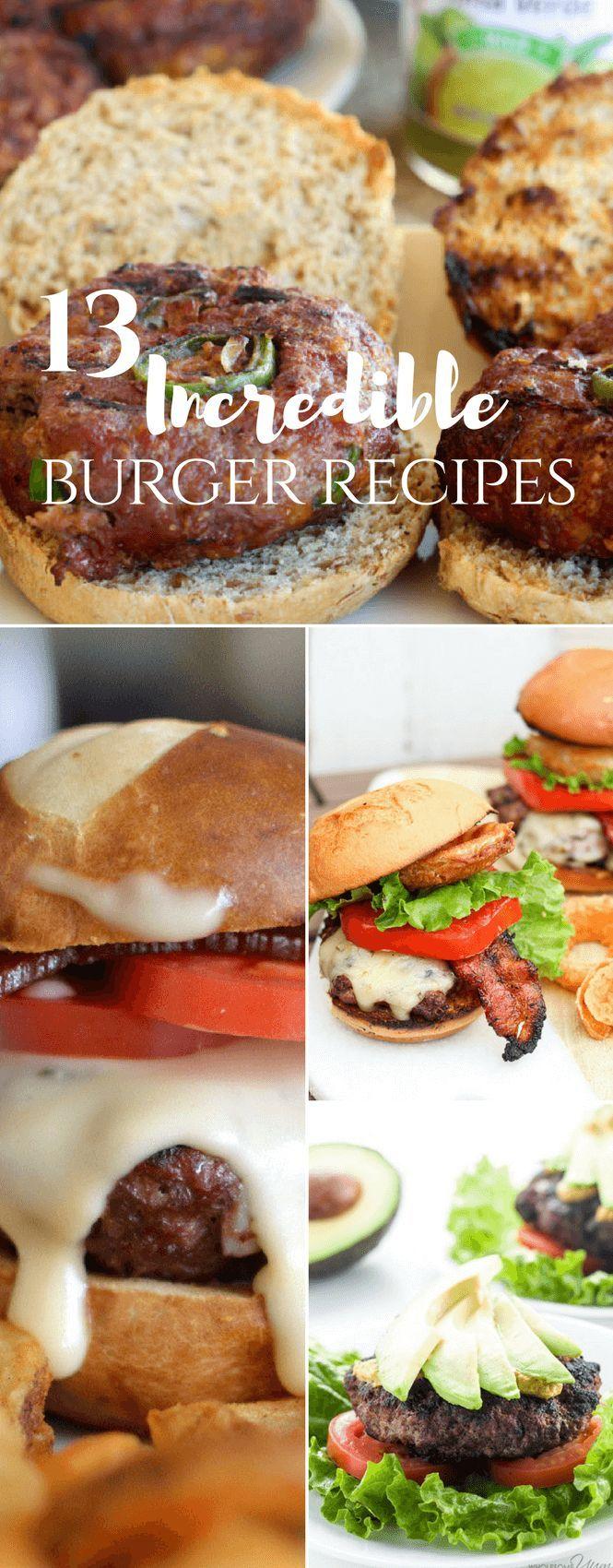 Incredible burger recipes