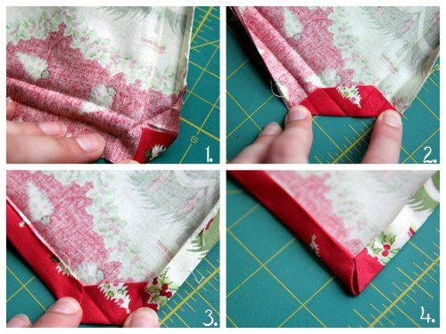 * the perfect corner! *    Holiday Tablecloth Tutorial | Skip To My Lou