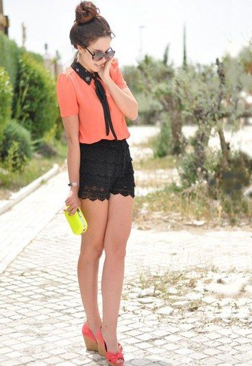 I like the vintage look. The shorts are kinda unusual though...butnlove.