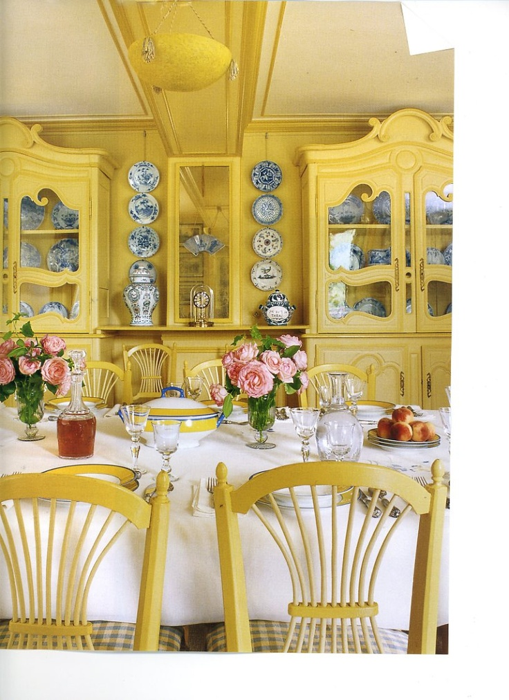 Room Of The Day Monets Yellow Dining Love This Chair Backs